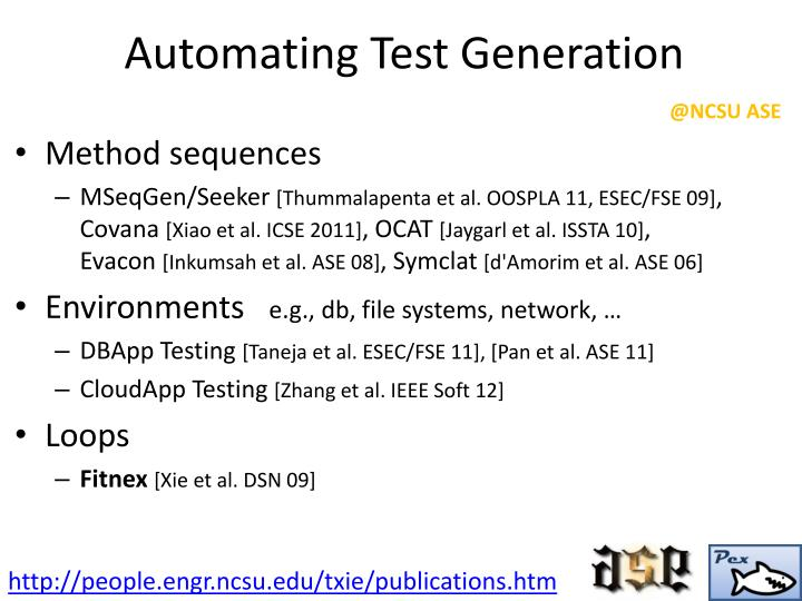 Automating Test Generation