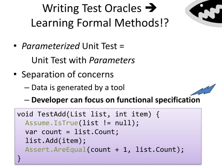 Writing Test Oracles