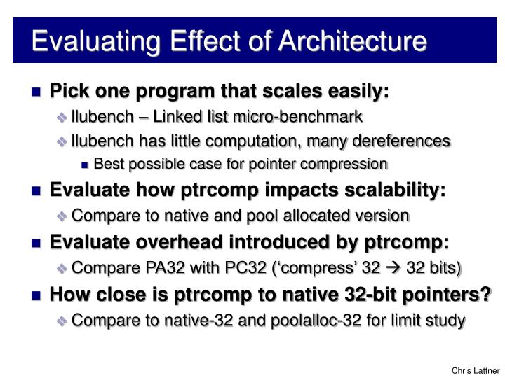 Evaluating Effect of Architecture