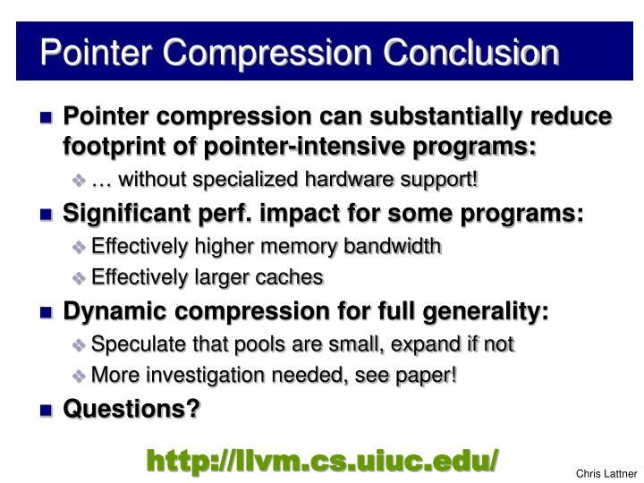 Pointer Compression Conclusion
