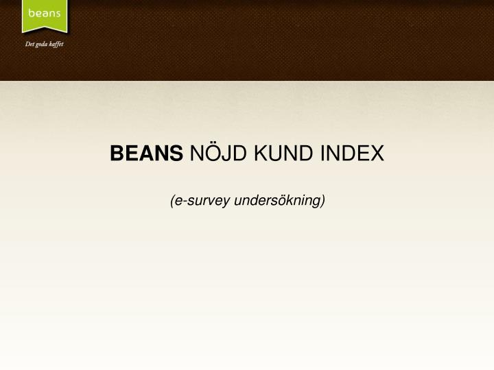 beans n jd kund index e survey unders kning n.