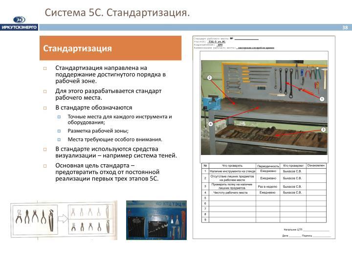 Система 5С. Стандартизация.