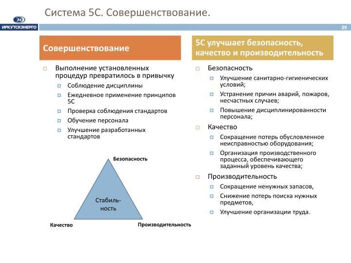 Система 5С. Совершенствование.