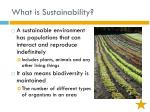 what is sustainability1