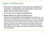 agent architectures1