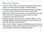 planning agents