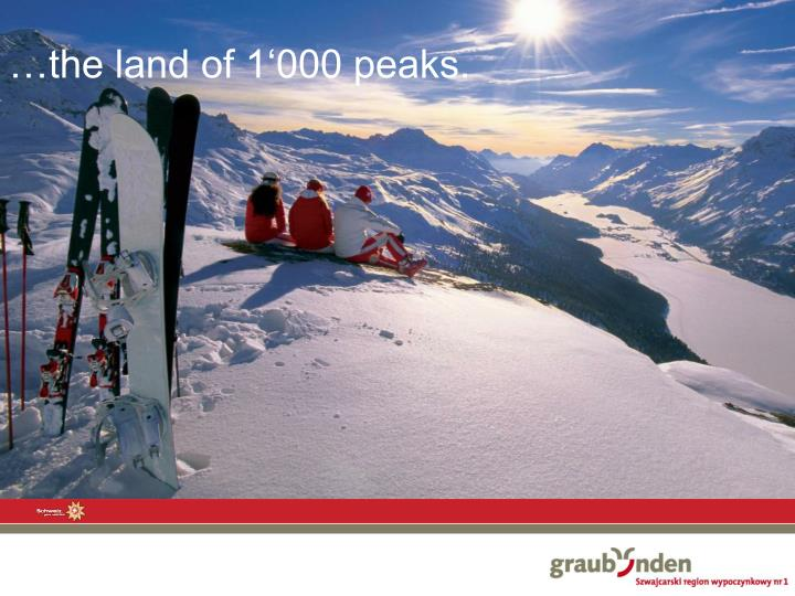 …the land of 1'000 peaks.