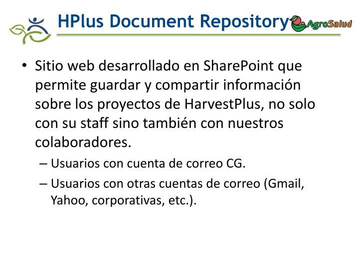 Hplus document repository
