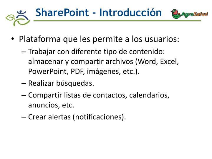 Sharepoint introducci n