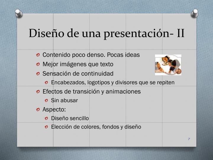 Diseño de una presentación- II