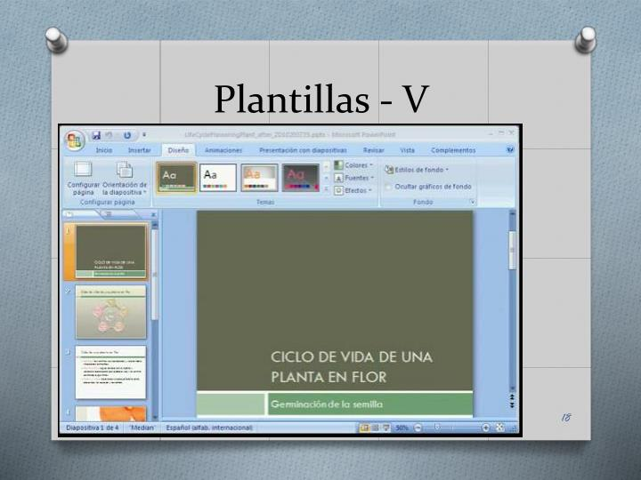Plantillas - V