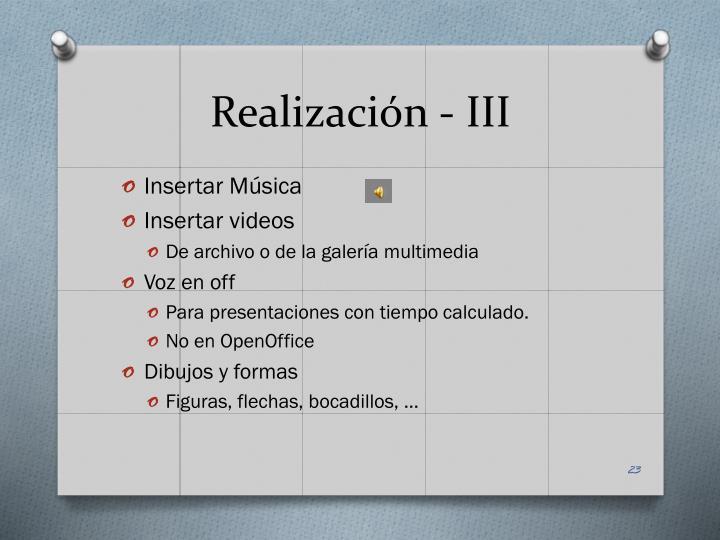 Realización -