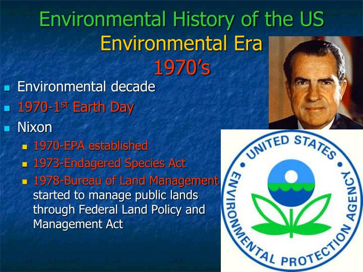 Environmental History of the US