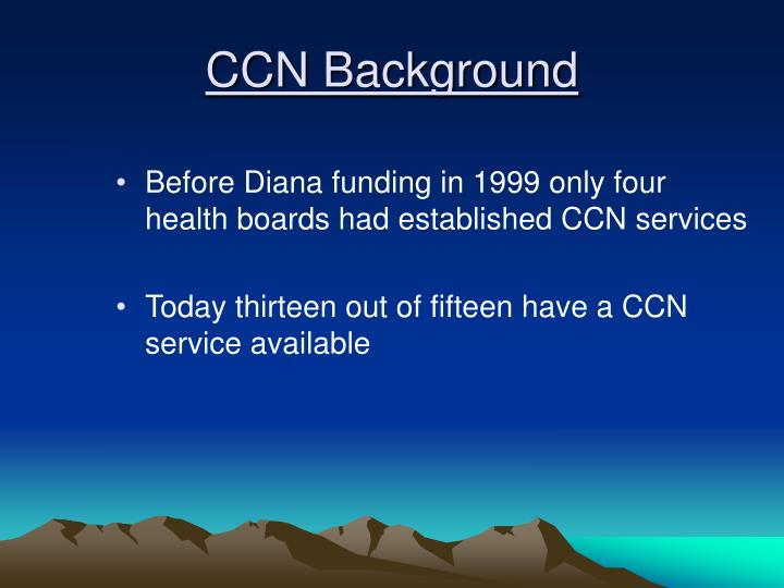 CCN Background