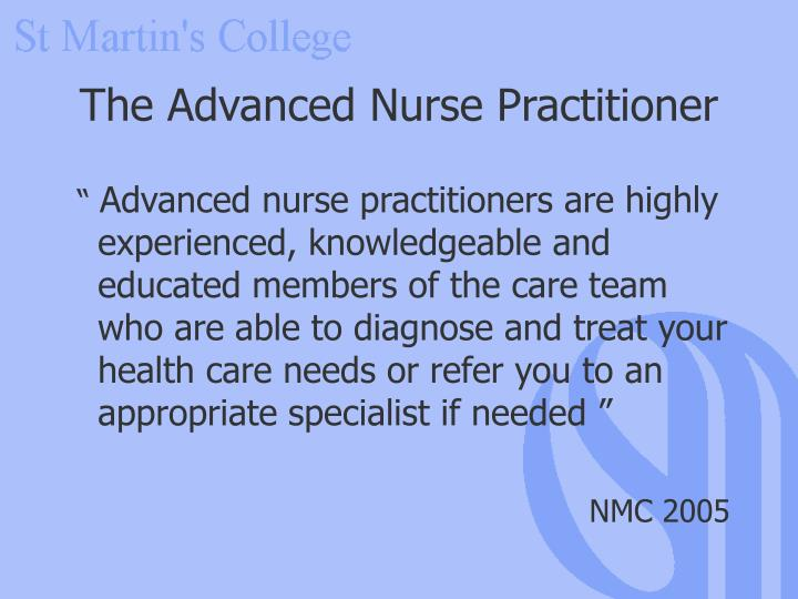 The Advanced Nurse Practitioner