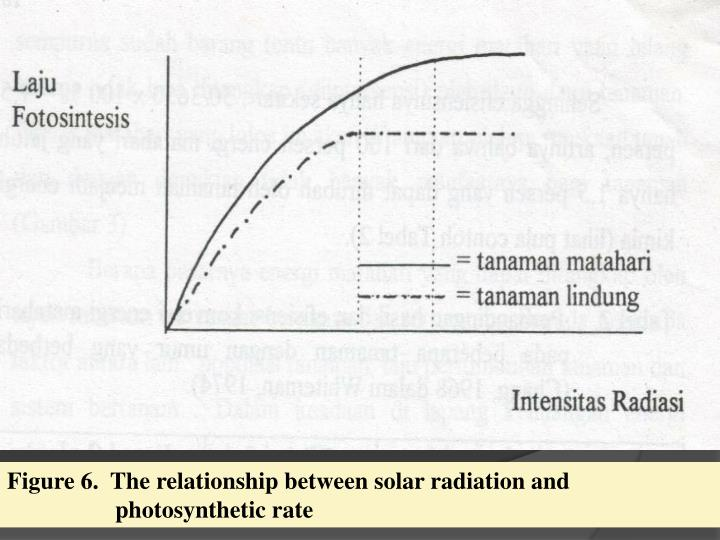 Figure 6.  The relationship between solar radiation and