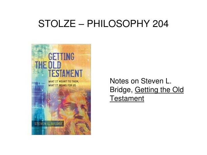 Stolze philosophy 204