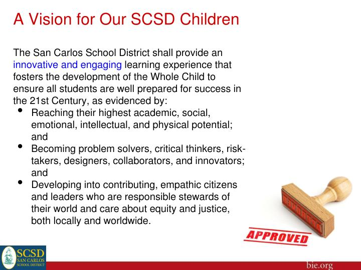 A Vision for Our SCSD Children