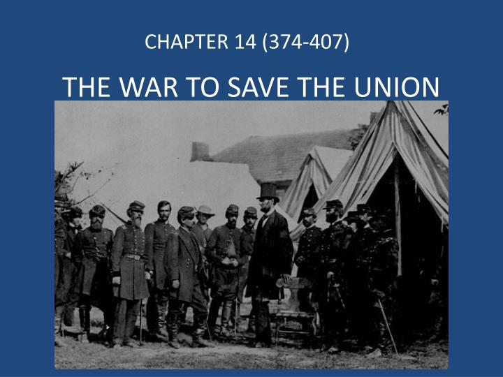 the war to save the union n.