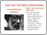 jazz and the west indian novel