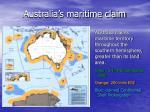 australia s maritime claim