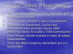 potential conflicts of responsibility