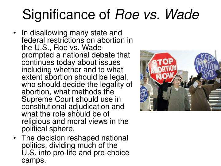 the importance of the freedom of choice about the issue of abortion Pro-choice does not mean pro-abortion: an argument for abortion rights  the issue of a woman's right to an abortion has  choice and religious freedom.