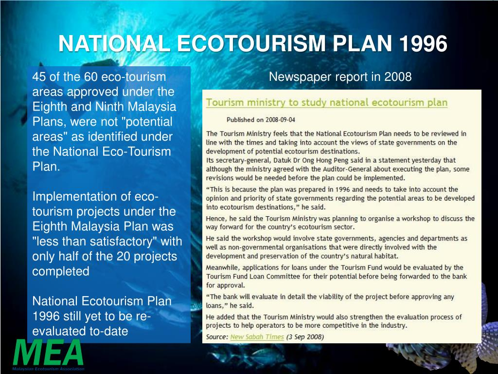 PPT - Unleashing the potential of ecotourism in Malaysia