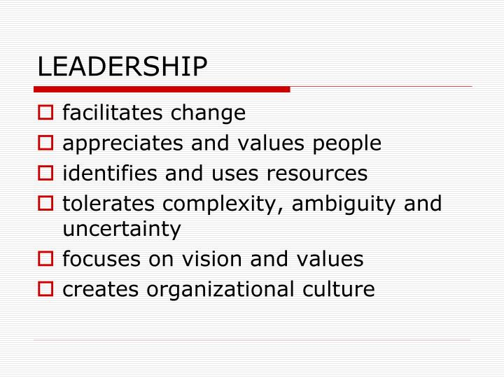 leaders facilitate change essay Ed 730 leadership essay to create and perpetuate an environment that facilitates the development of life-long readers, thinkers an easier read, yet equally thought-provoking work was michael fullan's leading in a culture of change straight forward and concise, fullen describes leadership.
