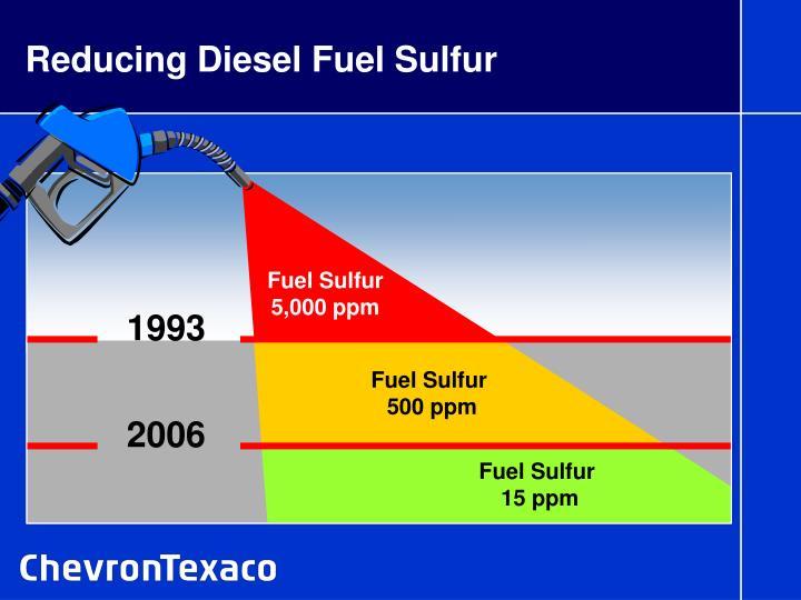Reducing diesel fuel sulfur