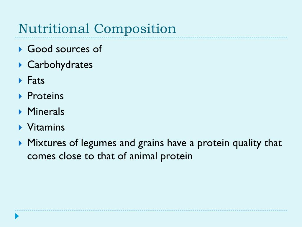 PPT - Cereal Grains, Legumes & Oilseeds PowerPoint