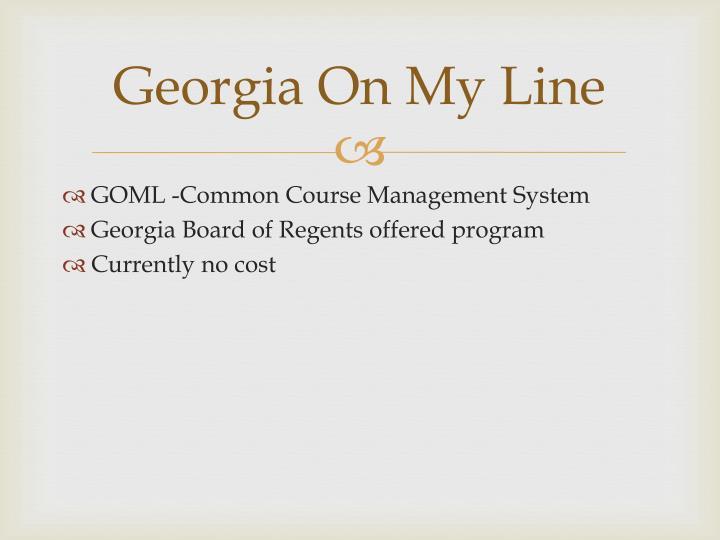 Georgia On My Line