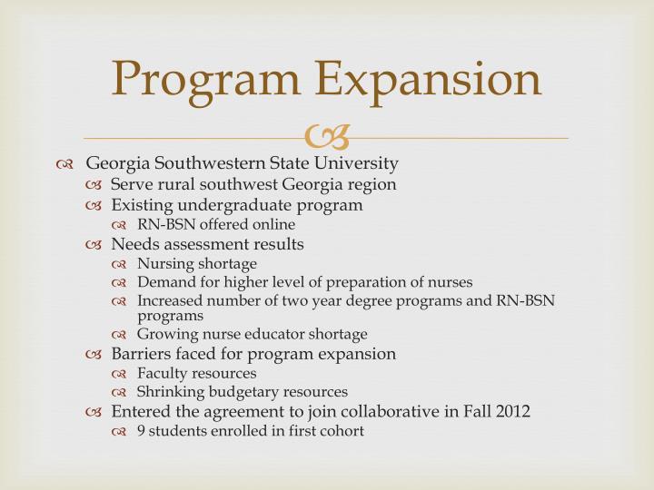 Program Expansion