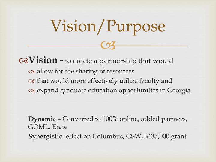 Vision purpose