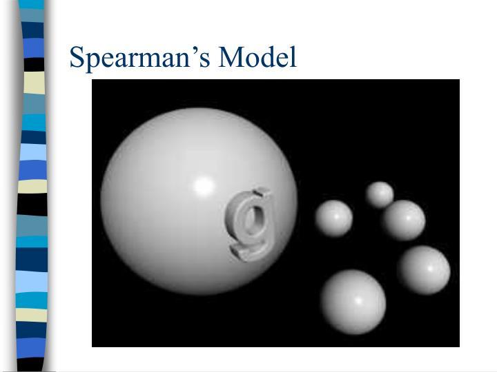 Spearman's Model