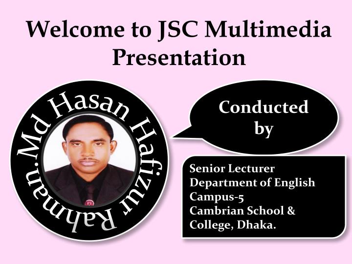 welcome to jsc multimedia presentation n.