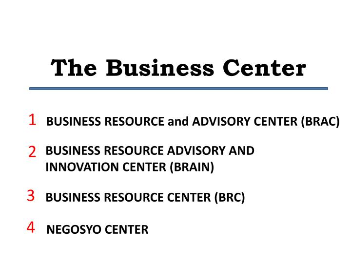 the business center n.