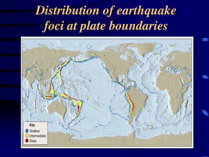Distribution of earthquake