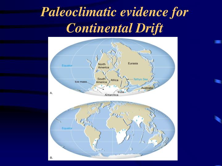 Paleoclimatic evidence for Continental Drift