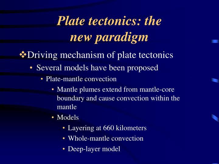 Plate tectonics: the
