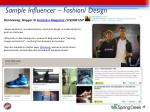sample influencer fashion design