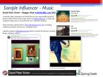sample influencer music