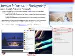 sample influencer photography