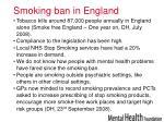 smoking ban in england