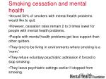smoking cessation and mental health