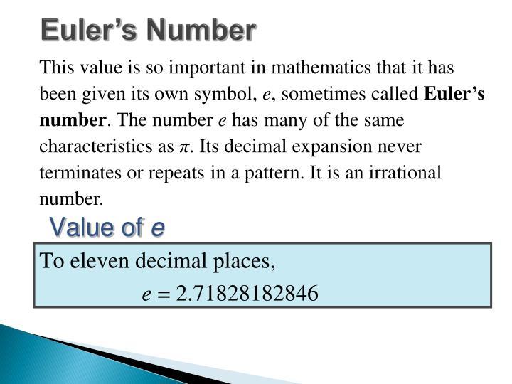 Euler s number