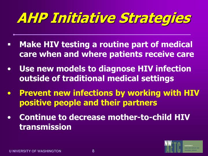 AHP Initiative Strategies