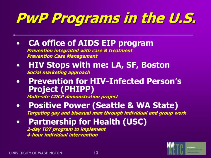PwP Programs in the U.S.