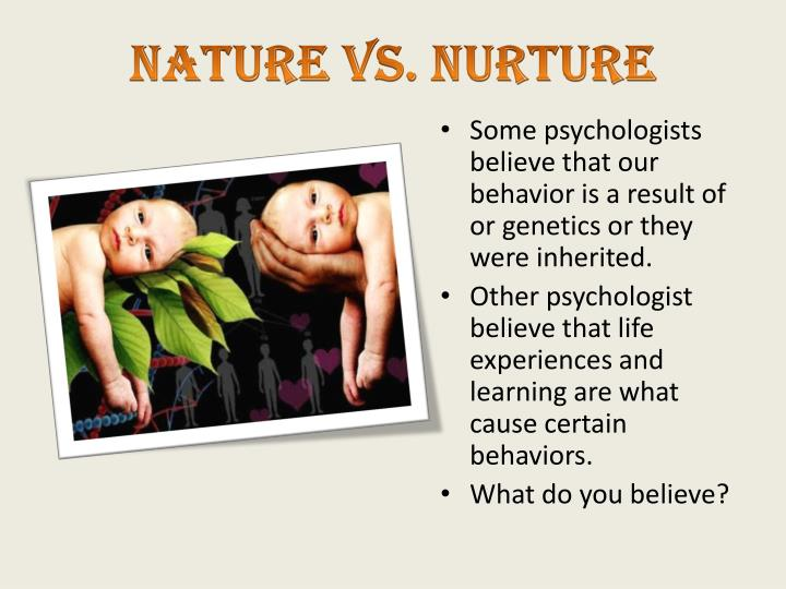 nature vs nurture physical development Nature vs - nature vs nurture essay introduction nurture the nature versus nurture debate is a heated debate concerning the relative importance of an individual's innate qualities vs their personal experiences although both instances shape you as a human, personally i think nature is more.