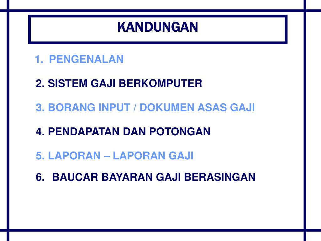 Ppt Sistem Perakaunan Gaji Elaun Powerpoint Presentation Free